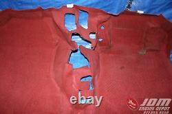 02 05 Honda CIVIC Type R Ep3 Ctr Oem Red Rhd Carpet #5 Jdm K20a