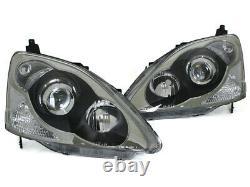 02-05 Honda Civic SI EP3 Hatchback TRUE JDM Type R Style Projector Headlights