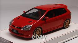 1/18 NYX Mugen Honda Civic Type R EP3 from 2004 in Gloss Red Leather base