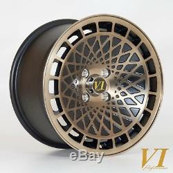 4 x VIP TypeT 15 x 8 4x100 et25 alloys fits Mazda Mx5 Honda Civic Vw Polo Golf