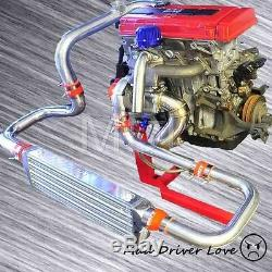 92-00 Honda CIVIC Turbo Bolt-on Piping Kit 300+ Bhp B-series B16 B18 Type-rs Bov