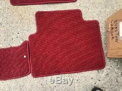 96-00 Honda CIVIC Type R Jdm Ek4 Ek9 Red Floor Mats Set Rx Ek4 Vti Sir Em1 Rhd