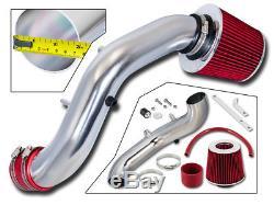 BCP RED 02-05 Honda Civic Si 2.0L Short Ram Air Intake Induction Kit + Filter
