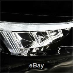 Black TYPE-R STYLE SEQUENTIAL TURN SIGNAL LED Headlight for 16-18 Honda Civic