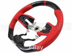 Buddy Club Carbon Fiber / Red Steering Wheel for 17-20 Honda Civic Type-R FK8