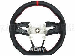 Buddy Club Leather Steering Wheel for 17-19 Honda Civic Type-R FK8