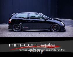 CUP Seitenschweller Ansätze für Honda Civic EP3 MK7 R/S Side Skirts Leisten