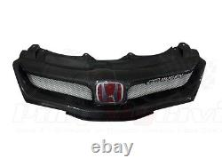 Carbon Mugen style Grill for Honda Civic Type R FN2 06 -11 BADGES INCLUDED MK8
