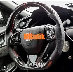 Carbon fiber steering wheel for Honda Civic 10th Gen 2017 2018 models SI Type R