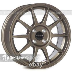 Circuit CP23 16×7 4-100 +35 Flat Bronze Wheels Type R Style Fits Honda Civic JDM