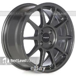 Circuit CP23 16x7 4-100 +35 Gloss Gun Metal Wheels Type R Style Fits Honda Civic