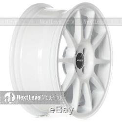 Circuit CP23 16x7 4-100 +35 Gloss White Wheels Type R Style Fits Honda Civic JDM