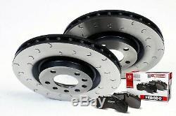 Civic Type R Brake Discs Pads Front C Hook Grooved Discs Ferodo Pads Honda EP3