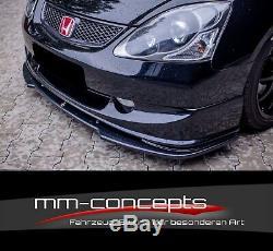 Cup Spoilerlippe SCHWARZ für Honda Civic EP3 MK7 R/S Spoiler Schwert Lippe