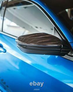 FK8 Civic Carbon Fibre Wing Mirror Covers Fiber Type R 2018 Honda Replacement