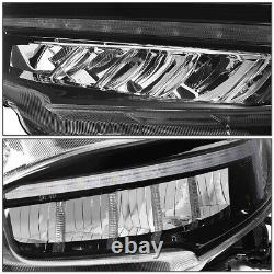 FOR 16-18 HONDA CIVIC LED DRL TYPE-R HEADLIGHT LAMPS WithSEQUENTIAL TURN SIGNAL 17