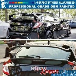 Fit 17-20 Civic FK Hatchback 5Dr Type R CF Trunk Spoiler OEM Painted Color