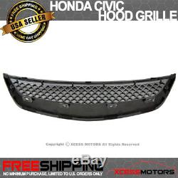 Fits 01-03 Honda Civic T-R Style PP Front Bumper Lip Spoiler + ABS Hood Grille