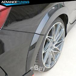 Fits 16-18 Honda Civic Sedan Type R Black Rear Bumper with Rear Fender Flares PP