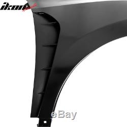 Fits 16-19 Honda Civic Type-R Style Steel Front Fender Flares Trim With Insert