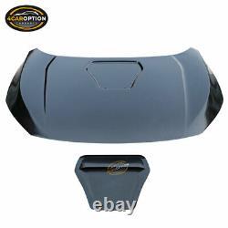 Fits 16-20 Honda Civic 10th Gen Type R Style Front Hood Steel Unpainted Black