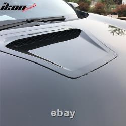 Fits 16-20 Honda Civic 10th Gen Type R Style Steel Front Hood Unpainted Black