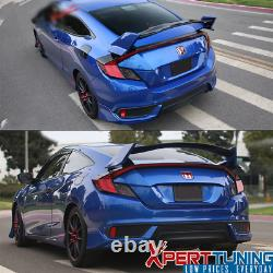 Fits 16-20 Honda Civic 10th Gen X Coupe 2-Door Type-R ABS Trunk Spoiler Wing