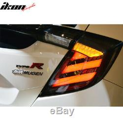 Fits 17-20 Honda Civic 10th Gen FK8 Type R Hatchback Mugen LED Tail Lights 4PC