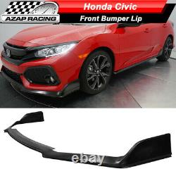Fits 17-20 Honda Civic Si Hatchback 5Dr Type R Style Front Bumper Lip PU