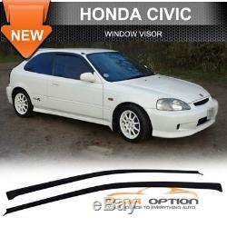 Fits 96-98 Honda Civic 3Dr T-R Front Rear Bumper Lip ABS Hood Grill Window Visor
