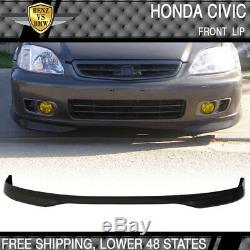 Fits 96-98 Honda Civic 4D Front Rear Bumper Lip + Grill + Sun Window Visor