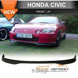 Fits 96-98 Honda Civic 4Dr EJ PP Front & Rear Bumper Lip Spoiler & Window Visors