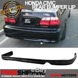 Fits 96-98 Honda Civic 4Dr PP Front + Rear Bumper Lip + Sun Window Visor