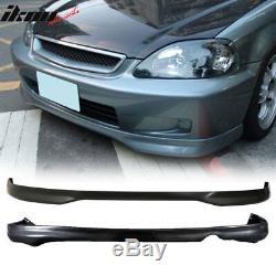 Fits Honda Civic EK 99-00 2 4Dr PP Front + Rear Bumper Lip Spoiler