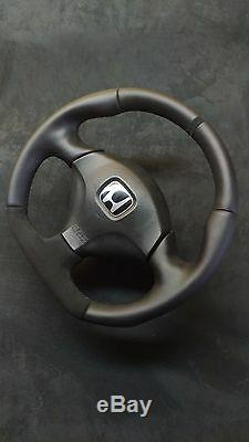Flat Bottom Steering Wheel Honda Acura CIVIC Sport Type R VII Gen. Alcantara