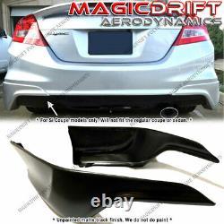 For 12 13 Honda Civic 2-Door Si Coupe HFP Style Rear Bumper Corner Lip Aprons