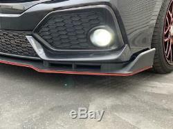 For 16-20 Honda CIVIC 10 Gen 4dr Si Type-r Style Front Front Lip Unpaint Pp