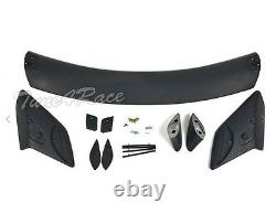For 16-Up Honda Civic Coupe 2Dr Rear Trunk Wing Spoiler Type R Style Primered BK