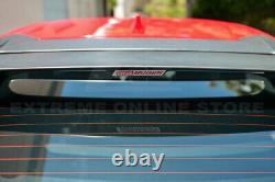 For 16-Up Honda Civic Hatchback MUGEN Style Rear Roof Wing Spoiler & RED Emblem