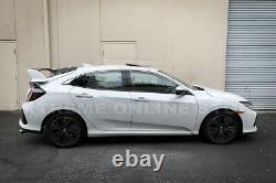 For 16-Up Honda Civic Hatchback MUGEN Style Roof Wing & Type-R Rear Spoiler