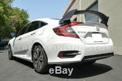 For 16-Up Honda Civic Sedan Type-R Style PRIMER BLACK Rear Trunk Wing Spoiler