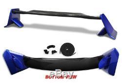 For 2016-19 Honda Civic 4DR/Sedan TYPE-R Factory Blue Trunk Carbon Fiber Spoiler