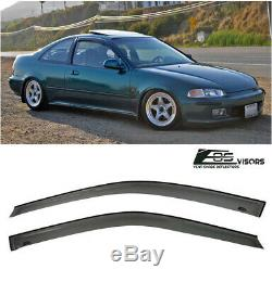 For 92-95 Honda Civic Coupe 2Dr Smoke Tinted Windows Visor Rain Guard EG SI