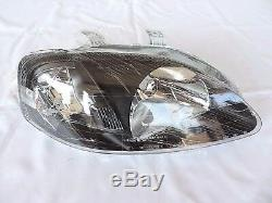 For 99-00 Honda Civic Type R Style EK9 EK4 EM1 JDM black Headlights CTR Si