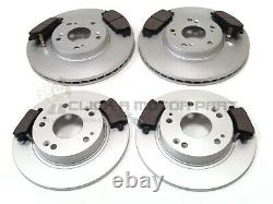 For HONDA CIVIC 2.0 TYPE-R (FN2) 2006-2011 FRONT & REAR BRAKE DISCS AND PADS