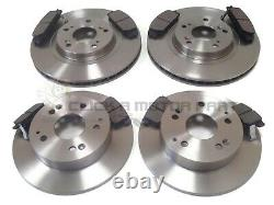 For HONDA CIVIC TYPE-R EP3 2001-2005 FRONT & REAR BRAKE DISCS AND PADS SET NEW