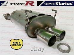 For Honda CIVIC 2.0 Type R Ep3 Premium Rear Exhaust Silencer Back Box & Gasket