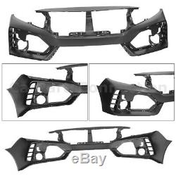 Front Bumper Cover for Honda Civic 16-18 Coupe Sedan Type-R Style Fascia Trim