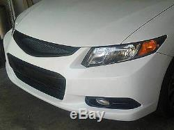 Front Bumper Mesh Grill Grille Fits Honda Civic 12-13 2012-2013 Coupe Si Type R