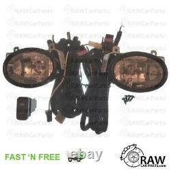 Front Fog Lights Kit With Loom for Honda Civic Type R EP3 / Sport EP2 Facelift